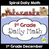 Daily Math for 1st Grade December Edition