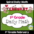 Common Core Daily Math for 1st Grade - February Edition