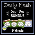 Common Core Daily Math for 1st Grade: Sept - Dec Bundle