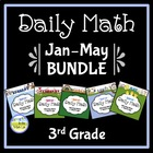 Common Core Daily Math for 3rd Grade: Jan - May Bundle