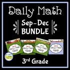 Common Core Daily Math for 3rd Grade: Sept - Dec Bundle