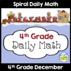 Common Core Daily Math for 4th Grade - December Edition