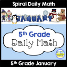 Common Core Daily Math for 5th Grade - January Edition