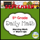 Common Core Daily Math for Fifth Grade - September Edition