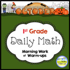 Common Core Daily Math for First Grade - October Edition