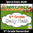 Common Core Daily Math for Fourth Grade - November Edition