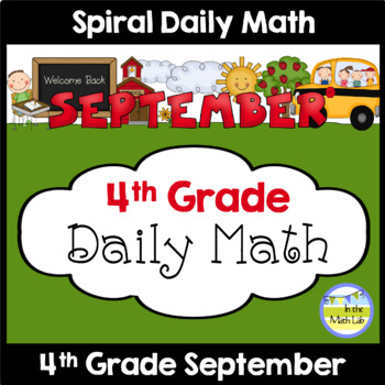 Common Core Daily Math for Fourth Grade - September Edition