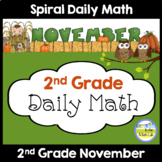 Common Core Daily Math for Second Grade - November Edition