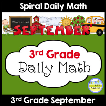 Common Core Daily Math for Third Grade - September Edition