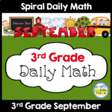 Daily Math for 3rd Grade - September Edition