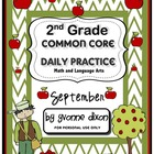 Common Core Daily Practice for Second Grade (September)