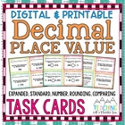 Common Core Decimal Task Cards (Expanded, Standard, Number