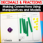 Common Core: Decimals &amp; Fractions Using Models and Manipulatives