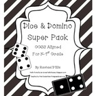 Common Core Dice & Domino Super Pack!  {For Kindergarten-1