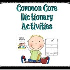 Common Core Dictionary Skills