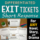 Common Core ELA: Differentiated Short Response Slips for L