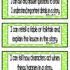 Common Core ELA &quot;I Can&quot; Statements 2nd Grade- Colored per Strand
