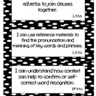 Common Core ELA &quot;I Can&quot; Statements 4th Grade- Black and White