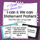Common Core ELA I Can and We Can Statement- Large Posters