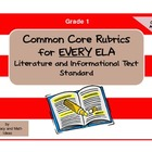 Common Core ELA Rubrics:  Grade 1