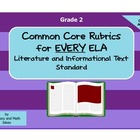 Common Core ELA Rubrics:  Grade 2