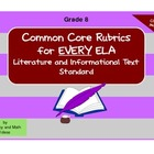 Common Core ELA Rubrics:  Grade 8
