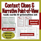 Common Core ELA Task Cards + Printables set – Narrative PO