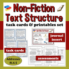 Common Core ELA Task Cards & Printables Set – Non-Fiction