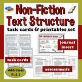 Common Core ELA Task Cards & Printables Set – Nonfiction T