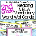 Common Core ELA Vocab Cards for 2nd Grade