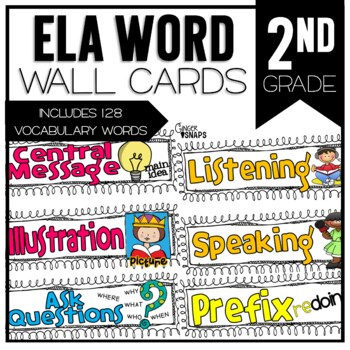 Common Core ELA Vocabulary Cards for 2nd Grade