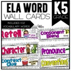 Common Core ELA Vocabulary Cards for Kindergarten
