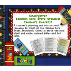 Common Core ELA and Math Checklist Combo (Kindergarten)
