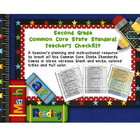 Common Core ELA and Math Checklist Combo (Second Grade)