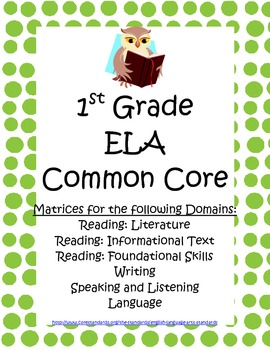 Common Core ELA and Math Informal Assessment Matrix