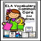 Common Core English Language Arts (ELA) 2nd Grade Vocabulary