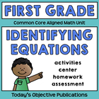 Common Core Equation Sort (First Grade Math Activities)