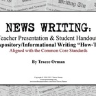 Common Core Expository News Writing Tutorial &amp; Activities