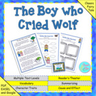"Common Core Fables and Folktales ""The Boy Who Cried Wolf"""