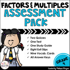 Common Core Factors and Multiples Assessment Pack 4.0A.4