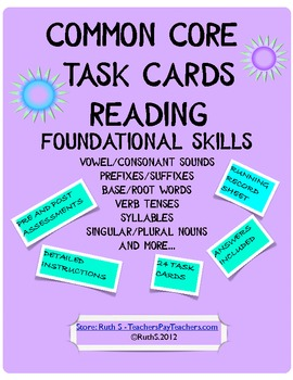Common Core Foundational Skills Task Cards