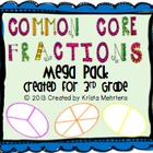 Common Core Fractions Mega Pack for 3rd Grade