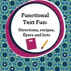 Functional Text Fun:  Commom Core Aligned {1st, 2nd, 3rd grade}