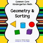 Common Core Geometry / Sorting assessment packet for Kindergarten