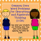 Common Core Gr. 2  Word Problems For Operations and Algebr
