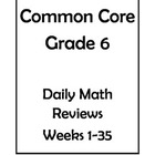 6th Grade Common Core Math Daily Review Bundle Weeks 1-30