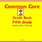 Common Core Grade Book for Fifth Grade