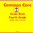 Common Core Gradebook for Fourth Grade