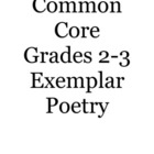 Common Core Grades 2-3 Exemplar Poetry