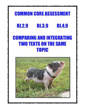 Common Core Grades 2-4: Compare/Integrate Two Texts On The